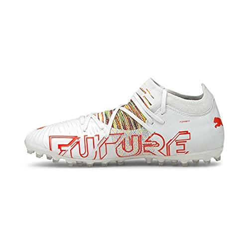 Puma Future Z 3.1 MG, Zapatillas de fútbol Hombre, White/Red Blast, 40 EU