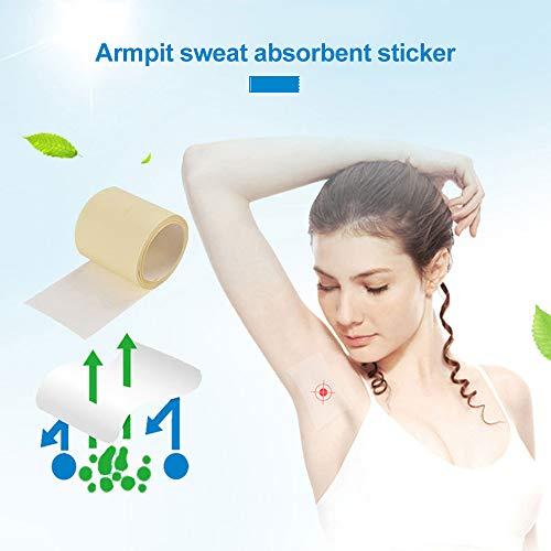 YAMEIJIA Draagbaar 1-rol wegwerp-onderarm-sweatproof-transparant, droog anti-transpirant-etiket voor het ondergoed