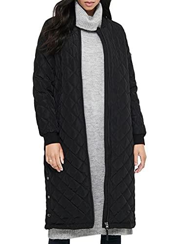 ONLY Womens Onljessica X-Long Quilted Coat OTW Noos Steppmantel, Black, XL