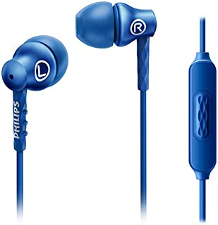 Philips SHE8105BL/27 in-Ear Headphones with Mic, Blue