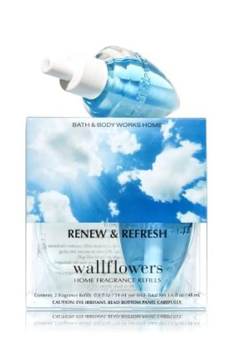 ストレージキリマンジャロ動脈【Bath&Body Works/バス&ボディワークス】 ホームフレグランス 詰替えリフィル(2個入り) リニュー&リフレッシュ Wallflowers Home Fragrance 2-Pack Refills Renew & Refresh [並行輸入品]