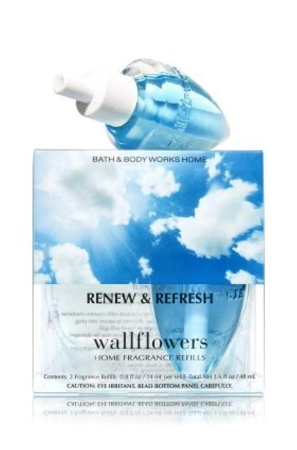 温室父方の運命的な【Bath&Body Works/バス&ボディワークス】 ホームフレグランス 詰替えリフィル(2個入り) リニュー&リフレッシュ Wallflowers Home Fragrance 2-Pack Refills Renew & Refresh [並行輸入品]