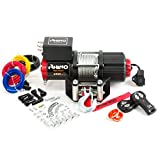 Rhino - Electric Winch 2040 Kg - Wireless Remote Control 12V - Steel Cable