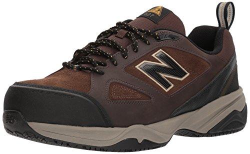 New Balance Men's Steel Toe 627 V2 Industrial Shoe, Brown/Black, 11 XW US