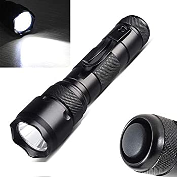 Single Mode Flashlight,Ultra Bright 1000 Lumen Tactical Flashlight,Pocket Flashlight with Clip,Handheld Flashlight Torch for Camping Hiking Emergency 18650 Battery Not Included