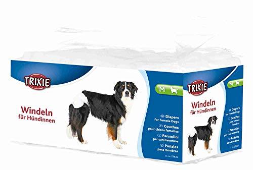 TRIXIE 12 Pañales Perros ultra absorbentes, M, Perro ⭐