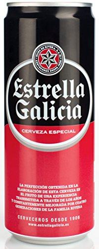 Estrella Galicia - Cerveza Lata, 33 cl