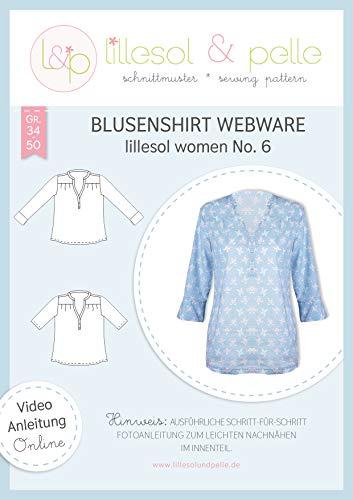 lillesol & pelle Schnittmuster lillesol Women No.6 Blusenshirt Webware in Größe 34-50 zum Nähen mit Foto-Anleitung und Video