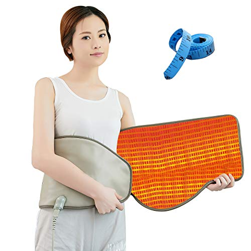 UDINEK Electric Slimming Belt with Hot Compress & Vibrating Massage Function Health Care Tools Heating Massager Fitness Device ( Widened Version )