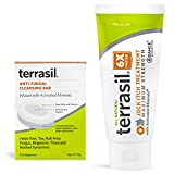 Jock Itch Treatment MAX 50gm Tube and Antifungal Cleansing Soap Kit - 6X Faster Than Leading Brands Natural Antifungal Ointment Treats Tinea Cruris Relieves Itch Irritation by Terrasil…
