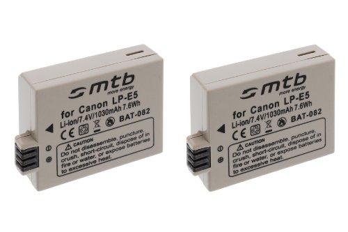 2x Batteria LP-E5 per Canon EOS 450D 500D 1000D / Kiss F, X2, X3 / Rebel T1i, XS, Xsi