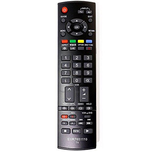 ALLIMITY EUR7651110 Mando a Distancia Reemplazar por Panasonic Viera Plasma TV TH-37PX7E TH-37PX8E TH-42PV8P TH-42PX7E TH-42PX8E TH-42PZ8E TH-42PZ8EA TH-50PV8P TH-50PX7E TH-50PX8E TX-26LED7F