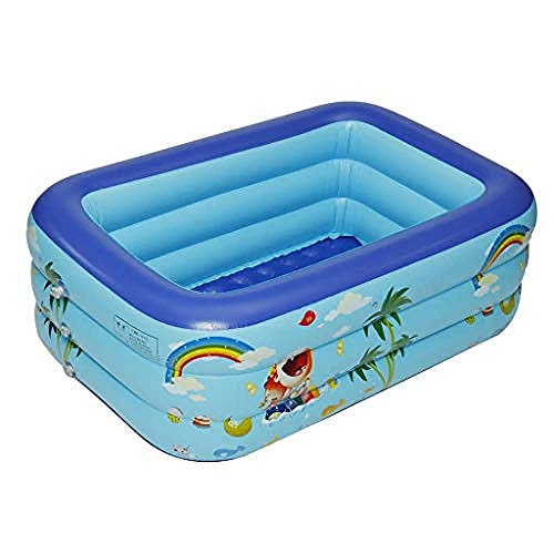 GFSDGF Inflatable Swimming Pool Full-Sized Family Indoor/Outdoor Cartoon Pattern Lounge Pool