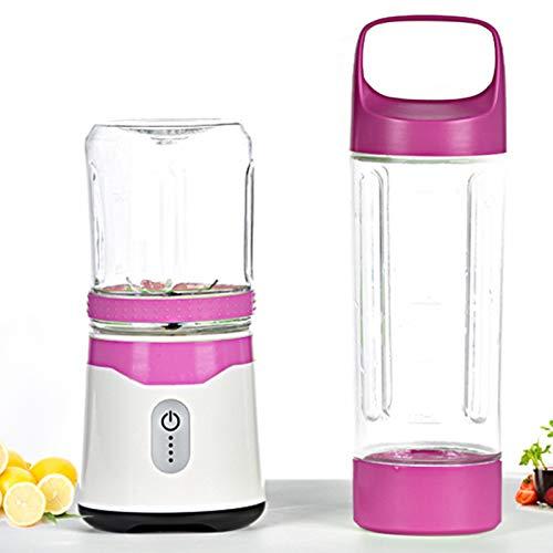 Licuadora personal, taza de exprimidor portátil/licuadora de frutas eléctrica/licuadora de jugo USB, recargable, 6 cuchillas 3D para una excelente mezcla (color: púrpura)