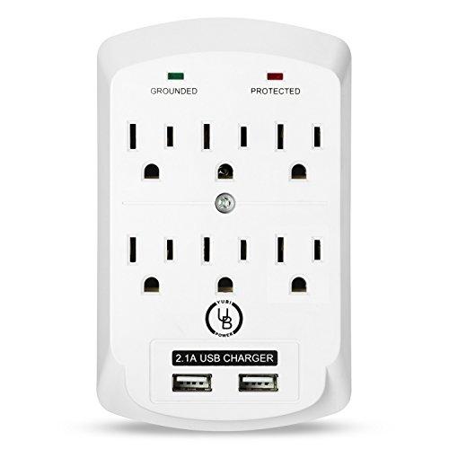 Yubi Power 6 Outlet Power Plug Surg…