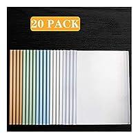 ビジネスクリップボード 20パックスライドバーをクリアレポートカバー、A4サイズ用紙(60シート容量)のための透明再開プレゼンテーションファイルフォルダーオーガナイザーバインダー 事務用品 (Color : A)