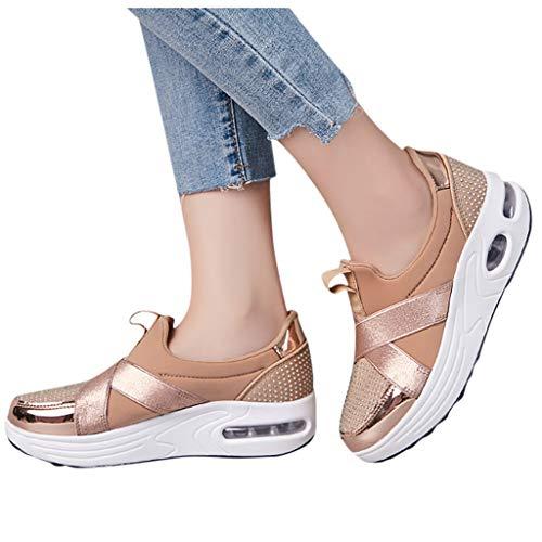 Berimaterry Zapatillas de Mujer Zapatos de Corriendo Calzado Casual y Deportivo Moda...