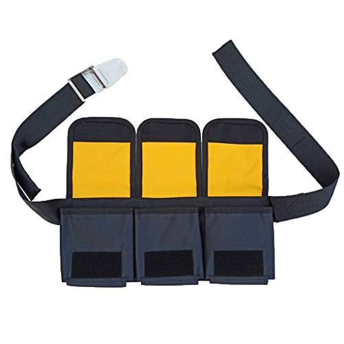 Perfeclan Tauchgürtel mit Gewichten Taschen Bleigurt Bleigürtel zum Tauchen Schnorcheln - 3 Tasche