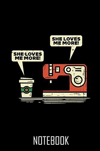 sewing machine and coffee - Notebook – Notizbuch – 100 Seiten – 100 Pages – Journal