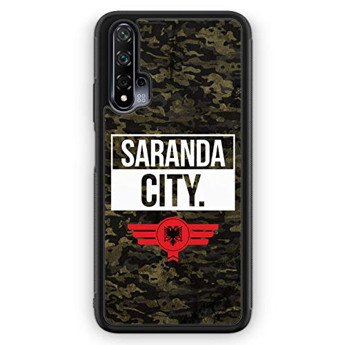Saranda City Camouflage Albanien - Silikon Hülle für Honor 20 Pro - Motiv Design Albanisch Albania - Cover Handyhülle Schutzhülle Case Schale