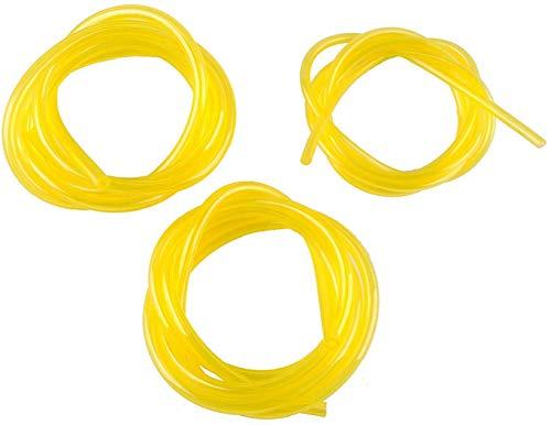 Poweka Benzinschlauch 3mm x 5mm, 2mm x 3.5mm, 2.5mm x 5mm PVC Schlauch für Rasenmäher 3 stück 1.5m