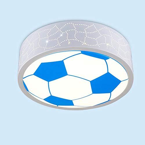 Plafondlamp met comic-design, warm, lief, basketbal, kinderkamer, LED, rond, acryl, creatief, plafond voor slaapkamer, slaapkamer, plafondlamp (net, kleur gemakkelijk te kiezen) – warme deken