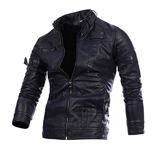 Heren super zacht leren jack klassieke mode jack stijl crinkle retro motorjack stadsfiets racing jas