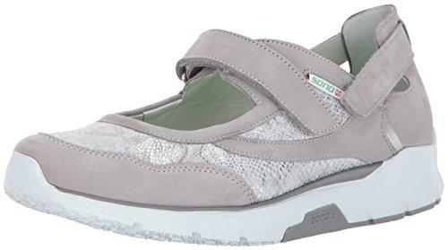 SANO by Mephisto Women's Villia Walking Shoe,Cloud Bucksoft;Silver Savana/Perl Calfskin,6.5 M US