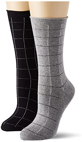 ESPRIT Damen Checks 2-Pack W SO Socken, Mehrfarbig (Sortiment 0010), 39-42 (UK 5.5-8 Ι US 8-10.5) (2er Pack)