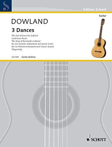 3 Dances: Violine (Flöte/Blockflöte) und Gitarre. (Edition Schott)