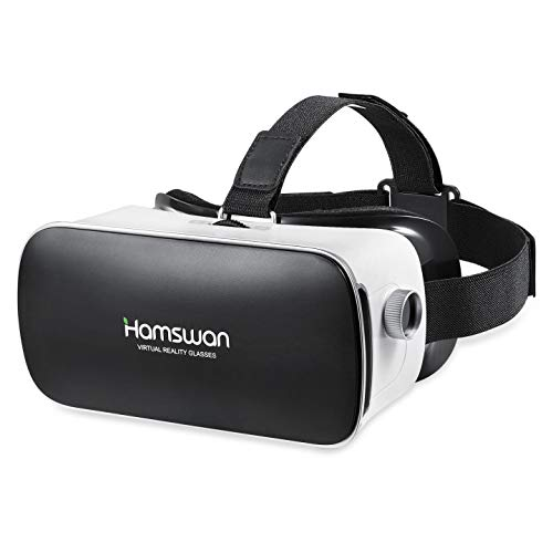 REDSTORM VR Headset, 3D Panoramic View, HD Image Quality, Virtual Reality Headset Compatible with iPhone/Android, White