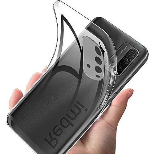 For Xiaomi Redmi 9T ケース 透明 対応 Redmi 9T 用ケース クリア カバー 【2021進化版】 薄型 黄変防止 phone case スリム 全面保護 軽量 防水TPUソフトシリコン 耐衝撃 一体型 人気 メッキ加工 防指紋 散熱加工 Redmi 9T