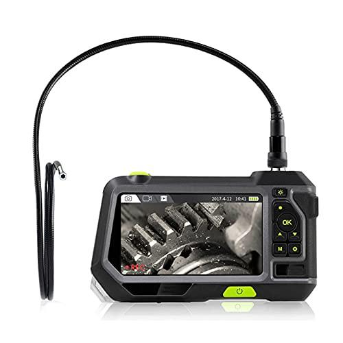 WXFN 5 Zoll Endoskopkamera, 3.9mm Durchmesser Sonde Digitale Hand Industrie Endoskop, 3500Mah Batterie 32G Speicher IP67 Wasserdicht Inspektionskamera,1M