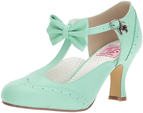 Pin Up Couture FLAPPER-11 Damen Kitten Heels, Lederimitat Mint, EU 36 (US 6)