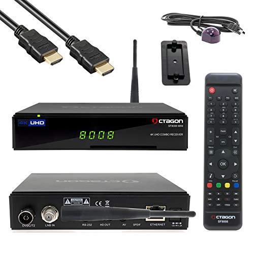 OCTAGON SF8008 Mini 4K UHD Receiver E2 2160p H.265 E2 Linux WiFi DVB-S2X & T2C Combo