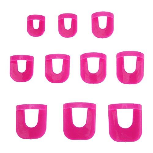 West See 26 Stück Nagelschablone Fingernägel Schablonen Kunststoff Nagellack Maniküre Schönheit