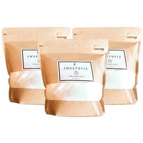 CraneFoods ( クレインフーズ ) スイートピア スクラロース [ カロリーゼロ 糖類ゼロ ] 800g×3個 ( 砂糖の3倍の甘さ ) ロカボダイエット エリスリトール