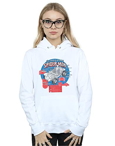 Marvel Mujer Spider-Man Spider-Buggy Breakdown Capucha Blanco Small