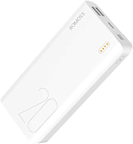 20000mAh Power Bank, ROMOSS Sense 6S Portable Charger External Batteries with 2.1A/1A Output and LED Indicator Compat...