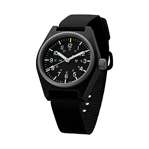 Marathon Watch WW194004 General Purpose Quartz Swiss Made Military Field Army Watch (GPQ) with Tritium and Sapphire Crystal (34mm) (Black)