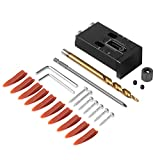 TOKTOO Pocket Hole Jig Kit with Build-in Scale, 25 Pcs...