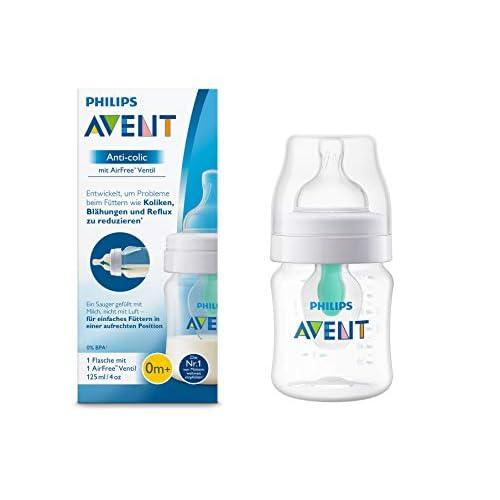 Philips AVENT Anti-Colic Bottiglia con Airfree valvola, 125ML, confezione da, Trasparente