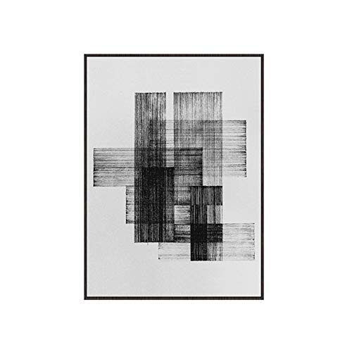 Morden Black White Line Leinwand Malerei Poster und drucken Wandkunst Bilder für Wohnzimmer Abstrakte Kunst Poster
