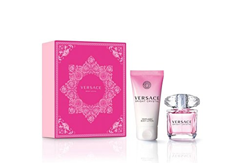 Versace Bright Crystal Geschenkset 30ml EDT Eau de Toilette Spray + 50ml Body Lotion