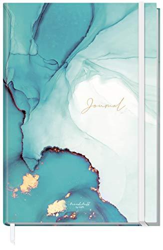 Bullet Journal dotted A4+ mit Gummiband [Smaragd Gold] 156 Seiten | Notizbuch gepunktet, Skizzenbuch, Tagebuch von Trendstuff by Häfft | nachhaltig & klimaneutral