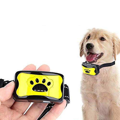 LXB Collar Recargable antiladridos para Perro Mascota, Tren de Control a Prueba de Agua, Parada de ladridos