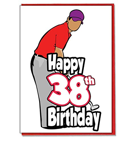Golf/Golfer - 38e verjaardagskaart - mannen, zoon, kleinzoon, vader, broer, man, vriend, vriend