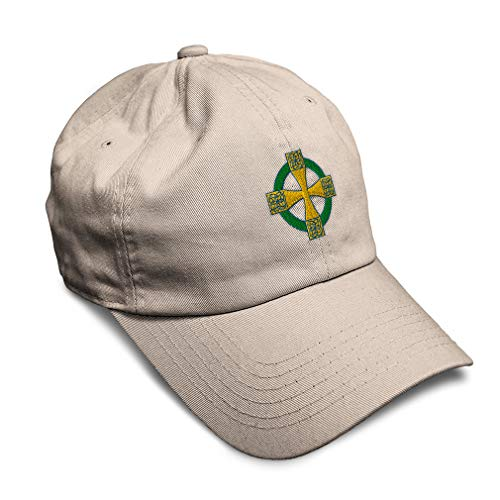 Soft Baseball Cap Celtic Cross B Embroidery Religions Other Twill Cotton Dad Hats for Men & Women Buckle Closure Stone Design Only