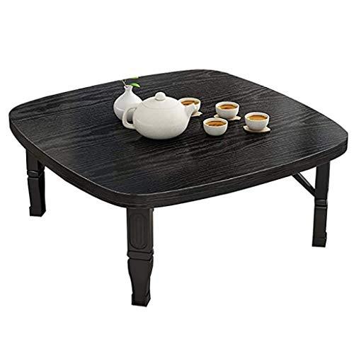 Mesa plegable GJ, mesa de comedor cuadrada/mesa baja de estilo japonés/mesa de estudio/escritorio pequeño, para sala de té Tatami dormitorio, 7 colores (color: E, tamaño: 70 x 70 x 35 cm)