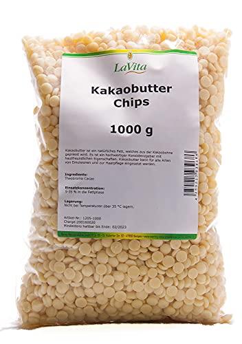 Kakaobutterchips 1000g in Lebensmittelqualität von Lavita